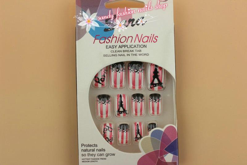 Paris Design False Nails Artificial False Nailfake Nail Nail Art