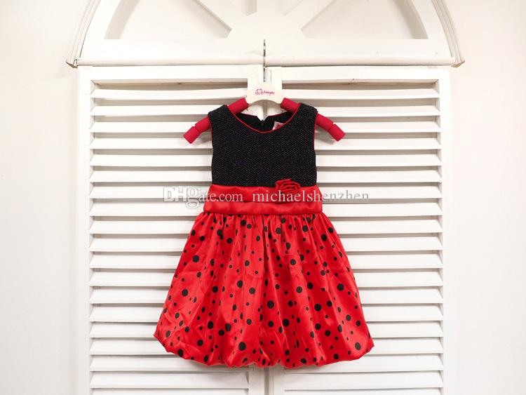 Summer Hot girl Polka Dot dress princess skirt baby flowers skirt Top Party Dress cute girls dress Children's Dresses C001