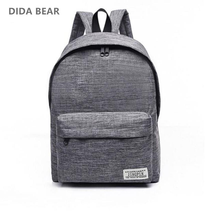 Canvas Men Women Backpacks Large School Bags For Teenager Boy Girls ... ece92f862e