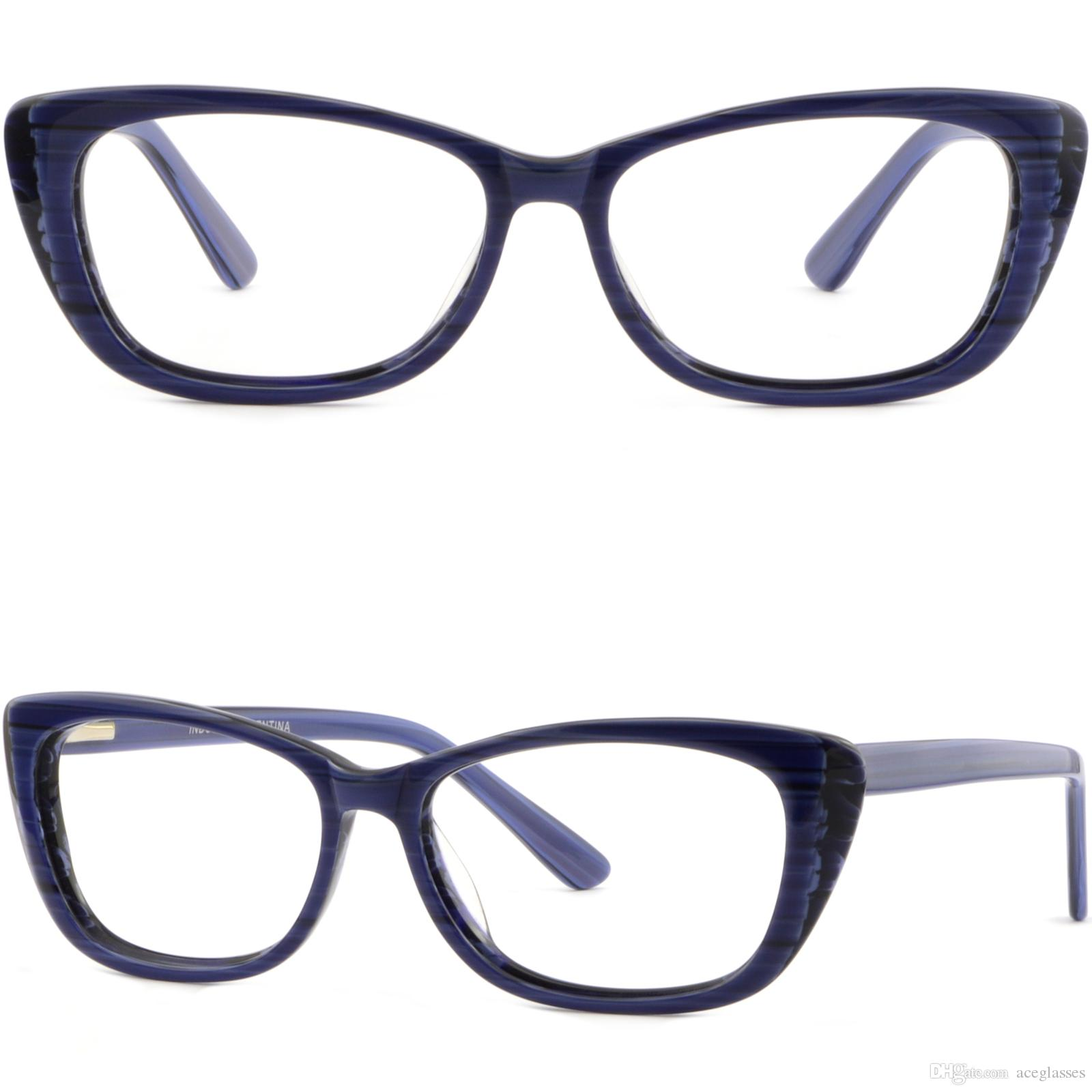 2c270d30a9b Women s Cat-eye Plastic Frame Cateye Prescription Glasses Spring ...
