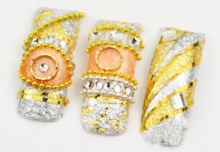 2015 New Supernova Sale DIY 3D Nail Art Decorations Gold Foil For UV Gel &Acrylic Nail Decoration