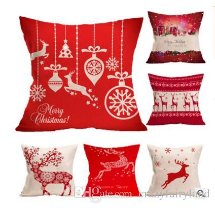 christmas pillow case linen christmas decorations home pillow covers cover car cushion decoration sofa xmas gifts dhl adirondack chair cushions cushion - Decorating Adirondack Chairs For Christmas
