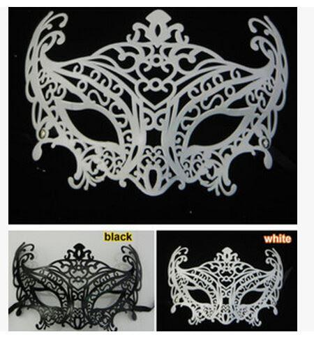 2016 New type Masquerade Halloween Exquisite Half Face Mask For Lady Black White Option Fashion Sexy