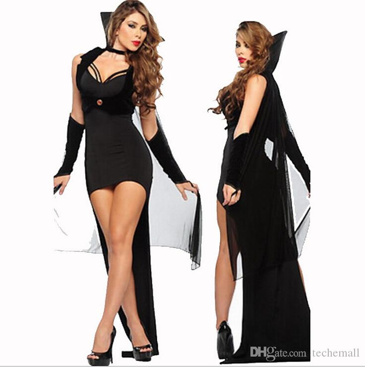 halloween sexy ladies mystical gauze witches cosplay dress cosplay costumes fashion black party prom dress game cosplay uniform temptation - Mystical Halloween Costumes