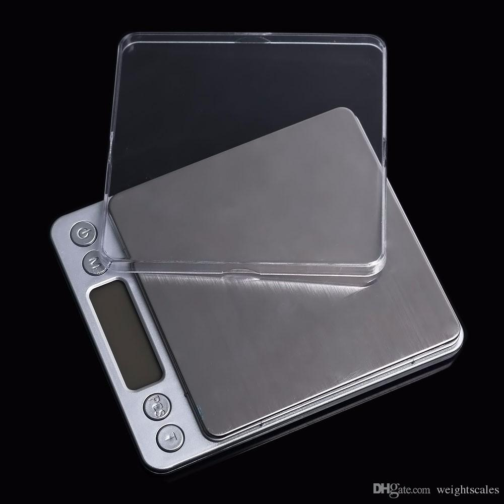 Tragbare Digital-Schmucksache-Präzisions-Taschen-Skala-wiegende Skalen Mini-LCD-Küche Balance-Gewicht Skalen 500g 0.01g 1000g 200g 3000g