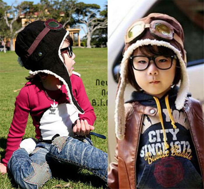 22cfc780a1d8 2019 HOT Children Winter Pilot Hat Cute Baby For Boy Girl Kids Pilot  Aviator Cap Warm Hats Earflap Beanie Melee D456 From Babyxu123