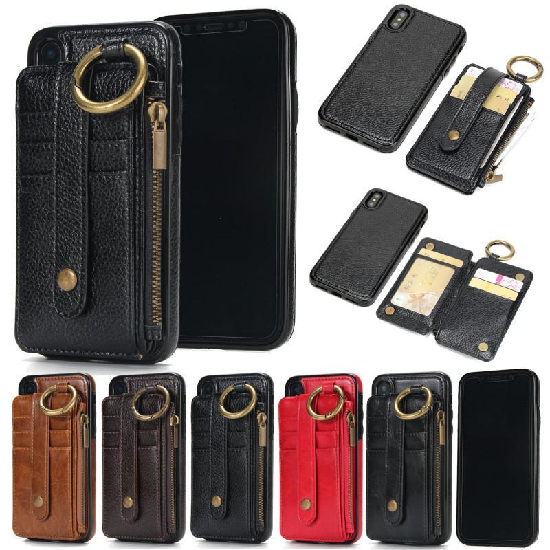 meet df6d6 34189 Vintage Car Magnet Phone Holder Stand Wallet Case for IphoneX 6 6s Plus 7  7Plus 8 8Plus
