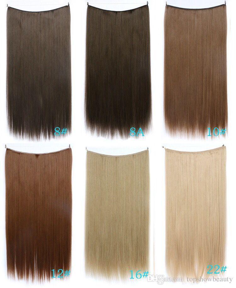 Ücretsiz kargo Saç gizli tel saç uzatma Çevirmek uzatma invisable düz halo saç hiçbir klipler hiçbir yapıştırıcı comfortalble ve kolay aşınma