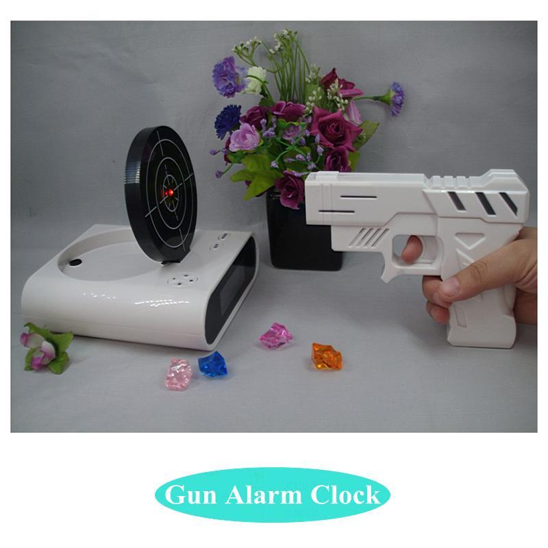 Gun Alarm Clock Target Wake Up Shooting Game Toy Novelty: Best Quality Novelty Gun Alarm Clock Lcd Laser Gun