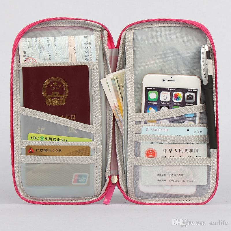 Reisepasshülle Brieftasche Travelus Multifunktions Kreditkarte Paket ID Halter Speicherorganisator Kupplung Geldbeutel