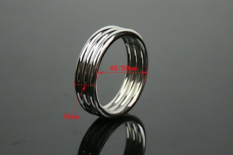 Penis Ring Cock Ring Cockring For Men Male Sex Products Sex Toys Adult Game Belt Lock Dick 45 50mm Stainless Steel