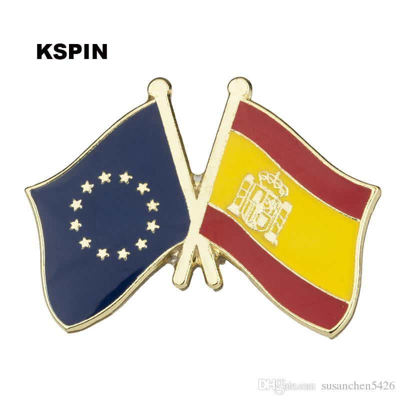 Amicizia europea Hangar Bandiera Bandiera Badge Pin XY0074-8