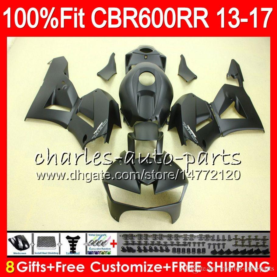 Впрыска для HONDA CBR600 RR CBR матовый черный 600RR F5 13 17 комплект 89NO69 CBR 600 RR 13 14 15 16 17 CBR600RR 2013 2014 2015 2016 2017 обтекатель