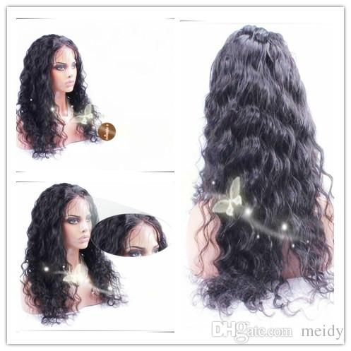 7A Full Lace Human Hair Wigs Loose Curly Wave Lace Front Wigs Brazilian Virgin Hair Glueless Full Lace Wigs For Black Women