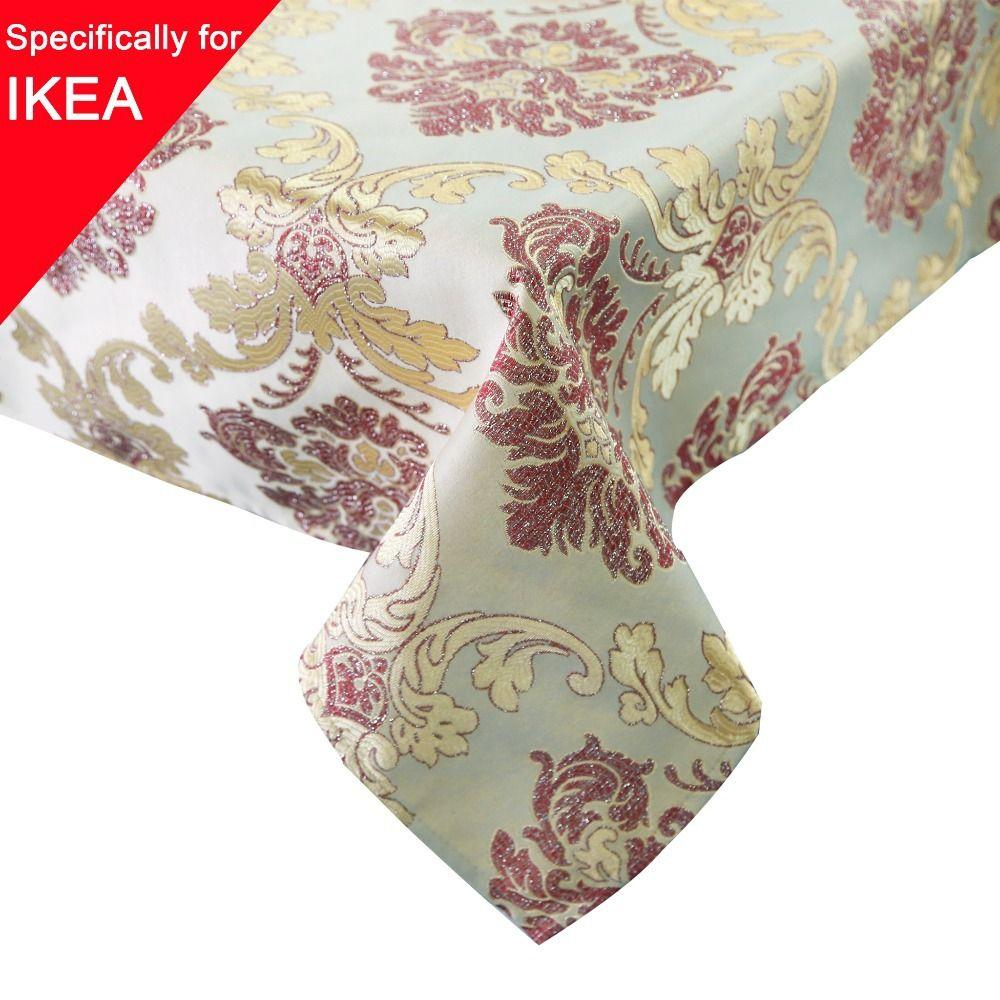 Extra Large Table Cloth 130x180cm Rectangle Damask Handmade Embroidered  Table Cover Tablecloth Glittering Gold/Silver Threads Country Tablecloths  Plastic ...