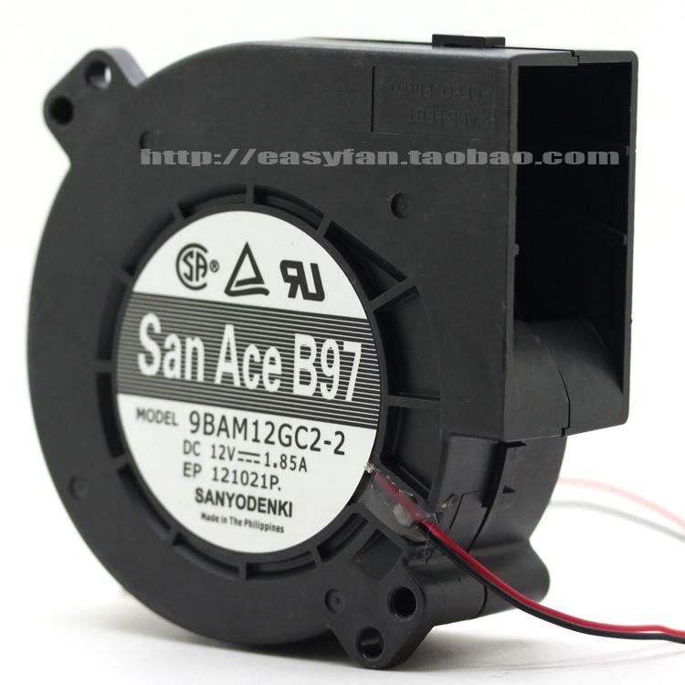 SANYO 9BAM12GC2-2 12V 1.85A 9733 용 원본 대형 바람 폭풍 듀얼 볼 베어링 송풍기 냉각 팬