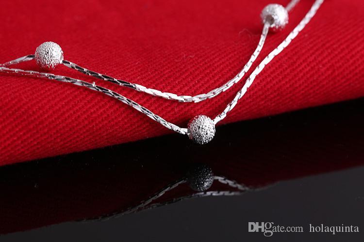 2017 Vente chaude couleur Argent Mode Bracelet Bracelets perles pour les femmes d'argent couleur amitié Bracelets haute joaillerie