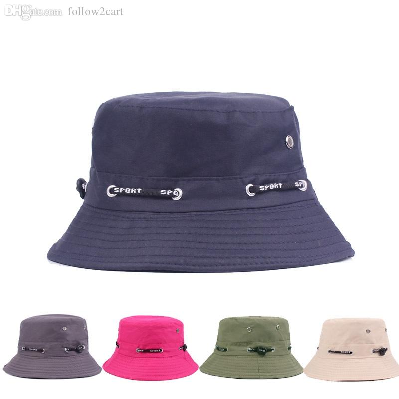 Spring Summer Fisherman Hat Cap Multifunctional Multi-Colors Outdoor Travel  Adult Men Women UV Protection Sun Cap Summer Bucket Hats Online with   6.73 Piece ... 3bcc86b883a9