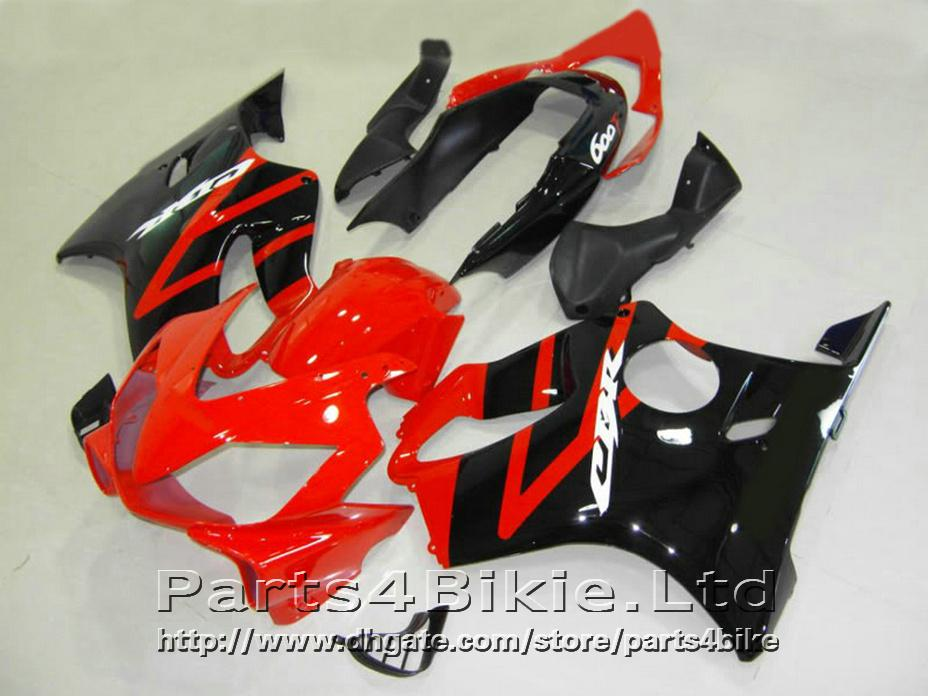 BUONA parti del corpo nero lucido rosso carena Honda CBR600 F4i carene 2004-2007 CBR 600 F4i 04 05 06 07 DOVR