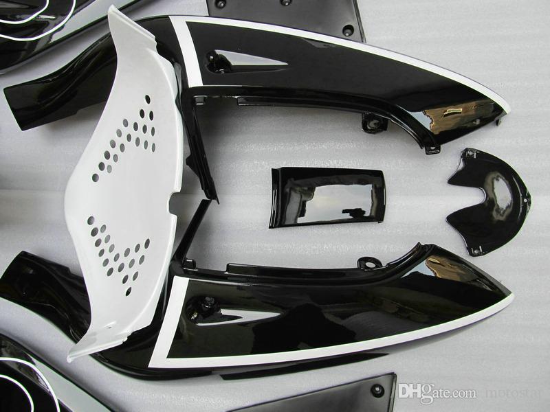 Высококачественный комплект обтекателя для Suzuki GSXR600 GSXR750 1996-2000 гг. GSX-R600 / 750 96 97 98 99 00 Белый Черный Корона Пластиковые стойки набор GB26
