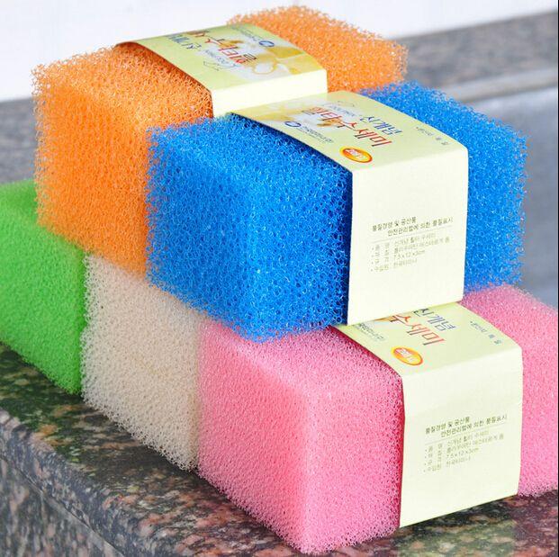 2019 Candy Color Sponge Imitation Loofah White Magic Sponge Eraser Melamine  Cleaner c035974ce097d