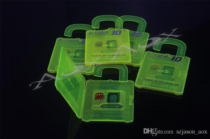 RSIM 10+ R SIM 10plus RSIM 10+ Rsim10 + Unlock Kart iphone için 6s 6 5S 5 4S ios9 9.X 3G 4G CDMA Sprint, AU, Softbank ler direkt kullanım hiçbir Rpatch