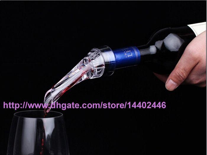 와인 Aerating Aerator Pourer Aerating 와인 Dropper 레드 와인 에센셜 바 병 여행 빠른 공기 화이트 선물 상자