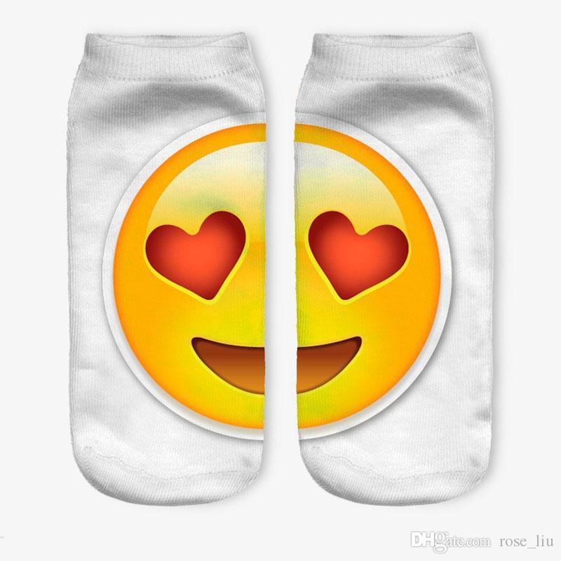 32 Design DHL 3D mulheres homens emoji meias curtas Crianças algodão novidade Criativa engraçado estrangeiro QQ expressão sorrindo rosto meias B