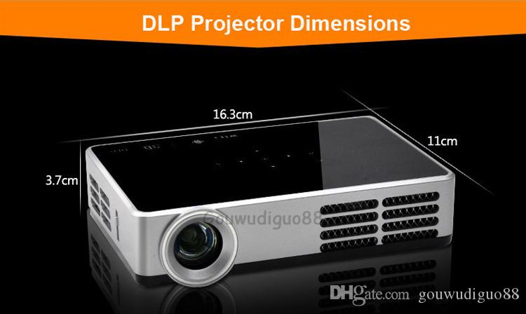 2018 New DLP High Brightness 6200Lumens Digital Video 3D Home Theater Projector Full HD 1080P WiFi Android 4.4Port LED Projector 16G HDMI