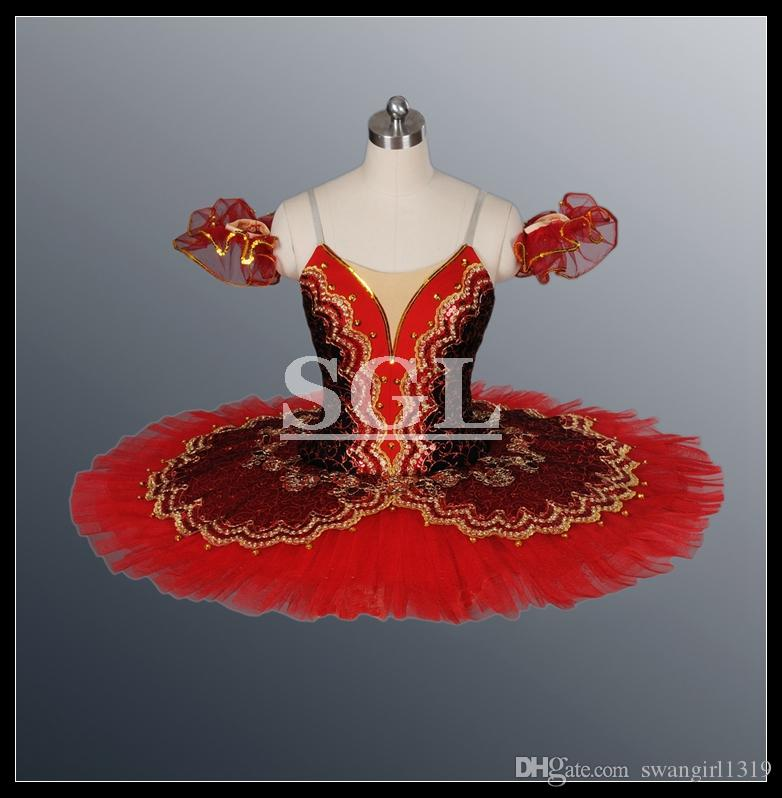 Adult Dance Troupe Theatrical Costume Classical Ballet Tutu Ballet Costume Girls Stage Wear For Ballet AT1057A