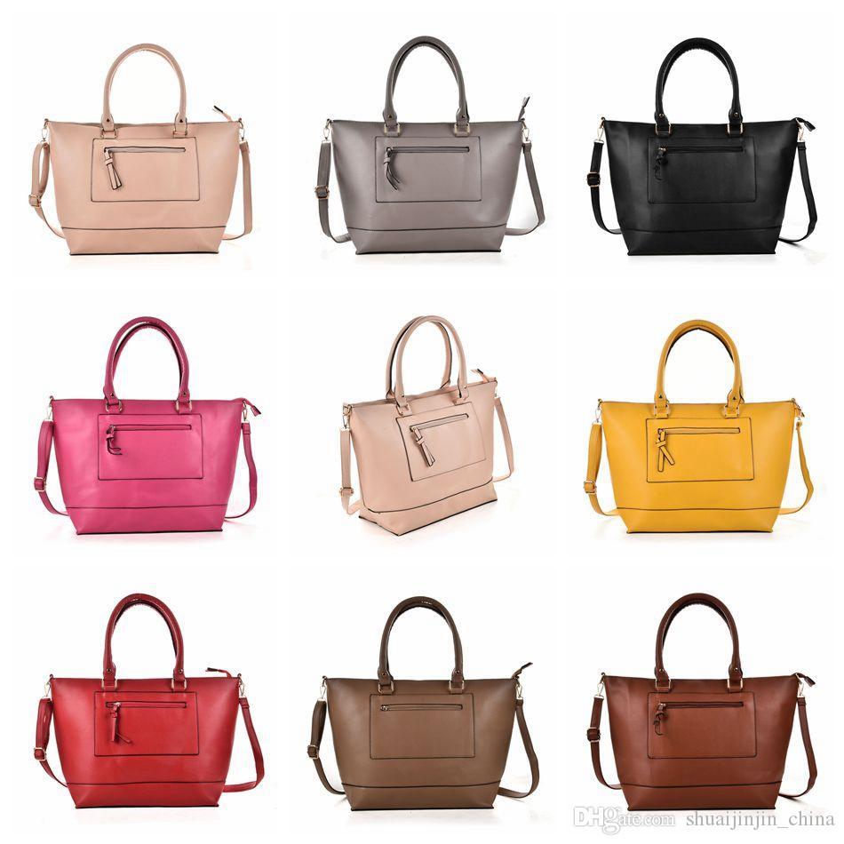46b32315a02f Women Fashion Shoulder Bag PU Leather Solid Color Handbag Tote Purse Bags  Messenger Crossbody Bag OOA3769 Hobo Bags Ladies Handbags From  Shuaijinjin china