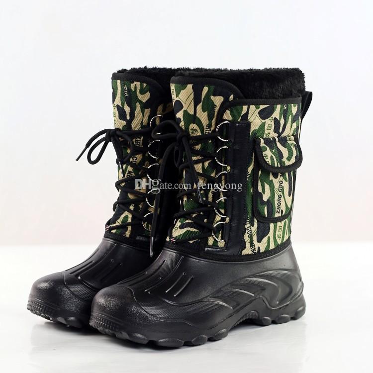 2019 New Fashionable Men Women Camouflage Waterproof Ski Boots