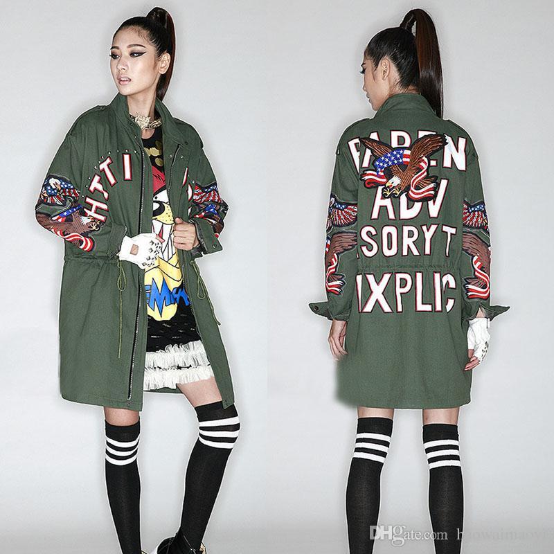 2017 Women Trench Coats 2015 New Long Coat Sleeves Fashion ...