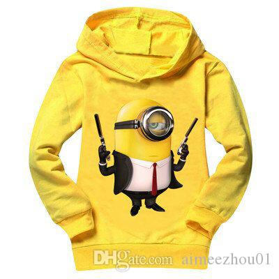 2017 Minions Long Sleeve Baby Girls Clothes Hoodies Coats Children Clothing Costume Boys T-Shirts Spring Casual Sweatshirts Tops Kids Tees