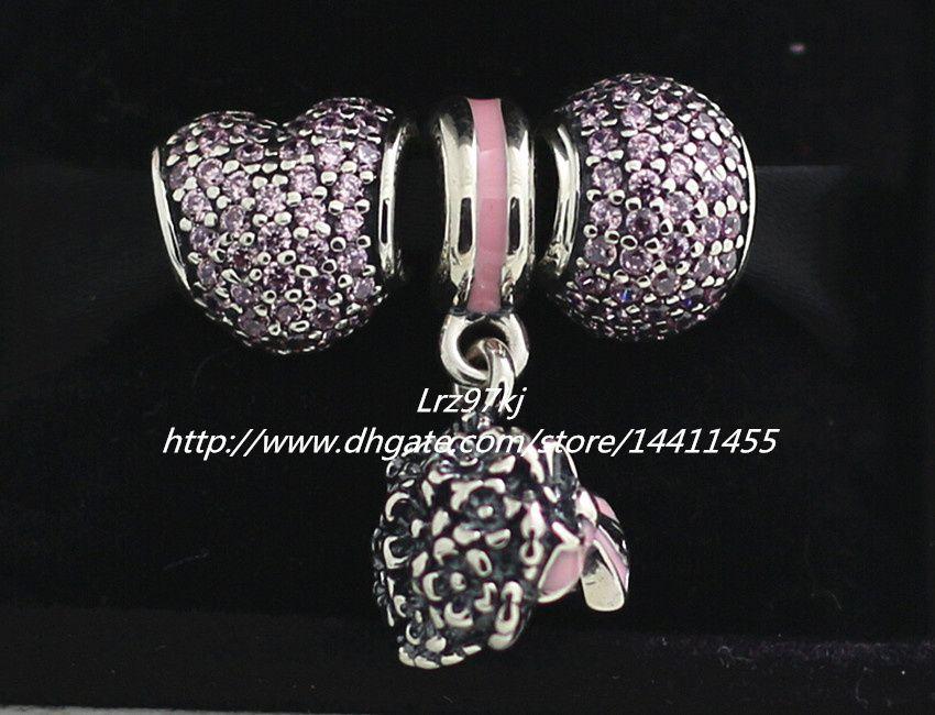 Europäische Pandora Style Schmuck Charm Armbänder 2015 Herbst 925 Sterling Silber Charms und Murano Glasperlen Set - NA032 Geschenk-Sets