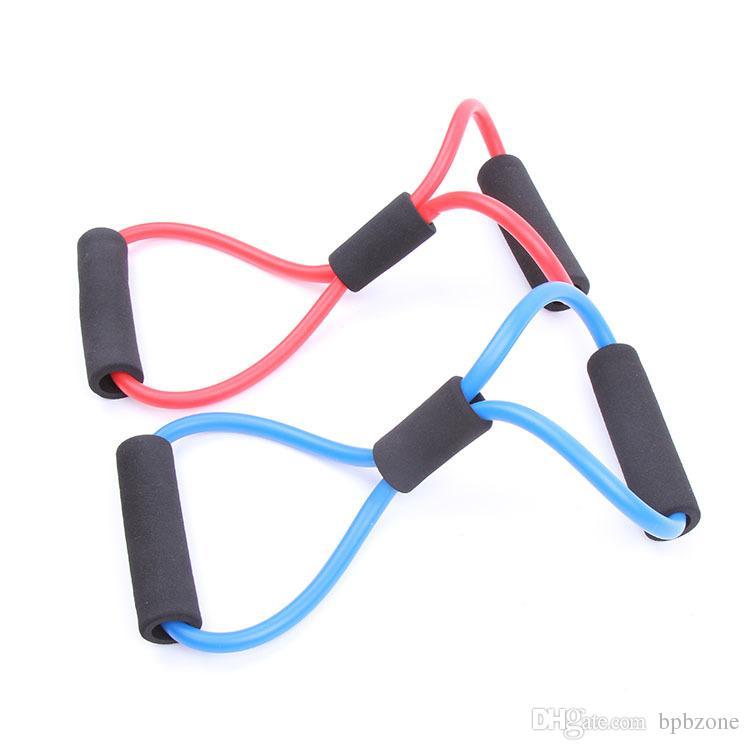 bandas de entrenamiento de resistencia ejercicio de entrenamiento de tubo para yoga 8 tipo de construcción del cuerpo de la manera herramienta del equipo de la aptitud