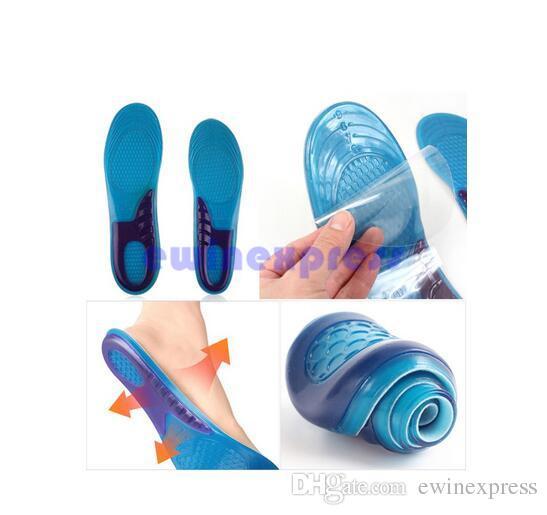 Hombres Mujeres Gel de silicona Ortopédicos Arco Apoyo Masaje Zapatillas de deporte Zapatillas Run Pad a prueba de golpes 100% nuevo y de alta calidad