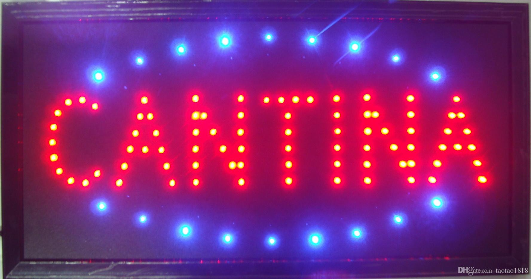 Ultra Bright LED Neon Light Animated Neon Cantina Sign led Cantina sign  billboard indoor size 10*19 inch