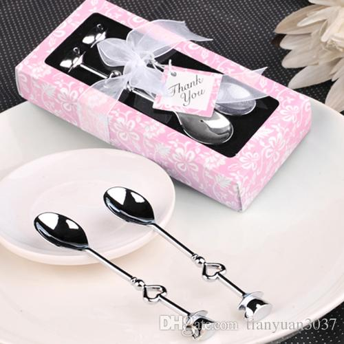 Mini Tea Coffee Fork Spoon Set Cake LOVE POP Shape Nice Wedding Gifts nessie coffee spoon ice cream scoop