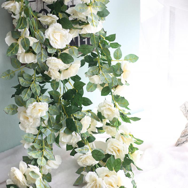 artificial roses vine real touch silk roses flowers for home decor
