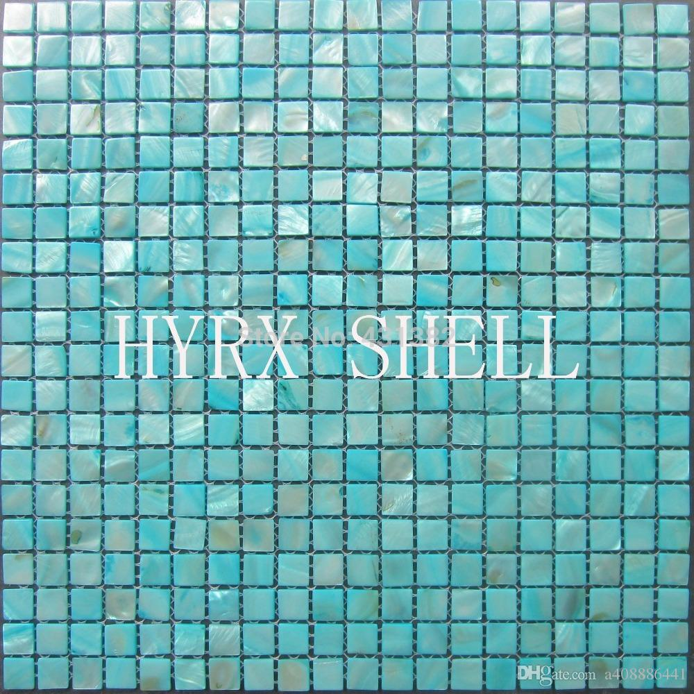 2018 Blue Pear Tiles Shell Mosaic Decorative Mother Of Pearl Tiles
