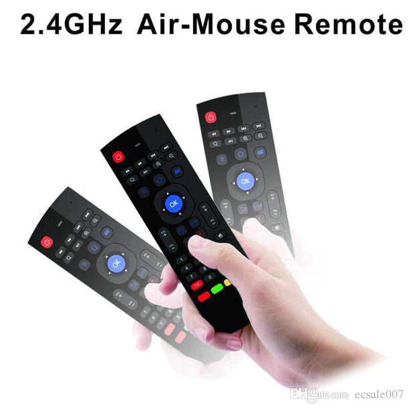 Новое Поступление 2.4 ГГц РФ 2.4 Г Fly Air Mouse T3 Беспроводной Портативный Qwerty Клавиатура Пульт Дистанционного Combo для ПК Android TV Box HTPC