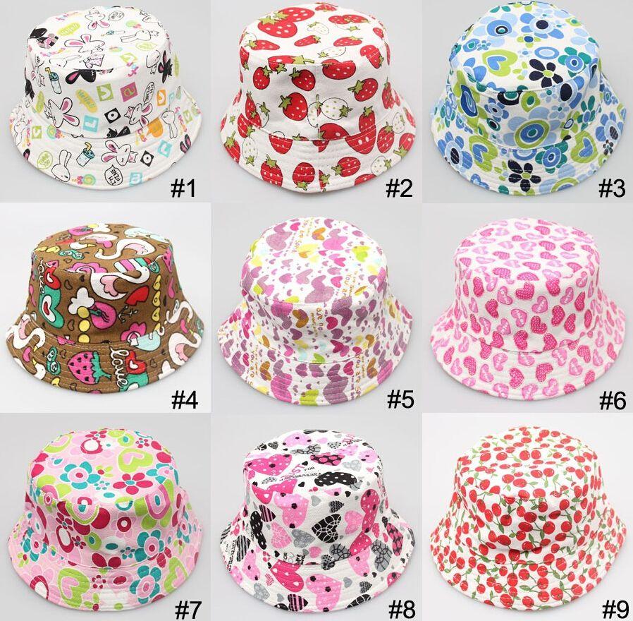 2014 Bucket sun hat for girls /kids/baby summer hat