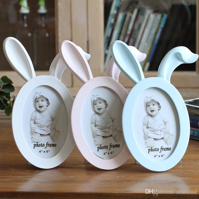2018 6inch Cute Creative Baby Photo Frame Diy Resin Wall Picture