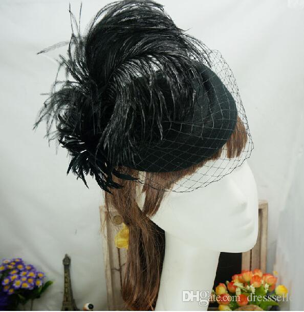 Ivory Red Black Vintage Multi Color Perfect Birdcage Headpiece Head Veil Wedding Bridal Accessories 2015 Bride Hat S-113