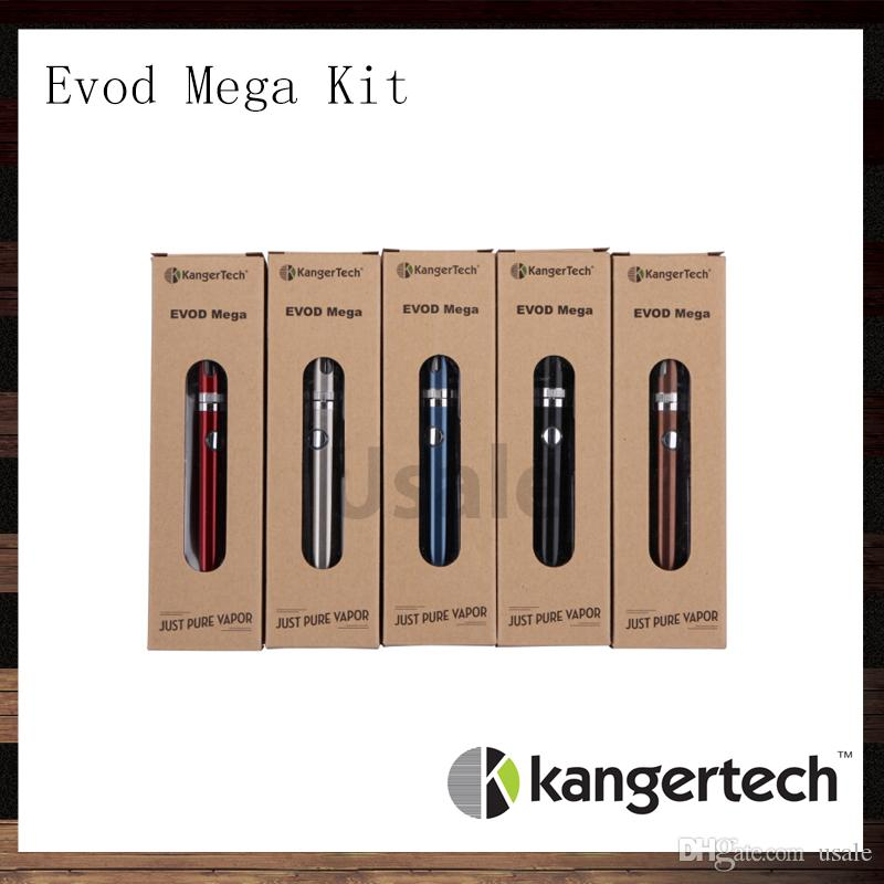 Kanger Evod Mega Kits Kangertech Evod Mega E-cigarette Starter Kit With 2.5ml Atomizer 1900 mAh Battery 100% Original VS Subox Mini Kit