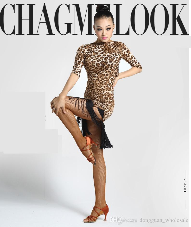 Nappa adulti / bambini Vestito da ballo latino Donna / Cha Chaba / Rumba / Samba / Tango / Gonna da ballo Sala da ballo Abbigliamento latino