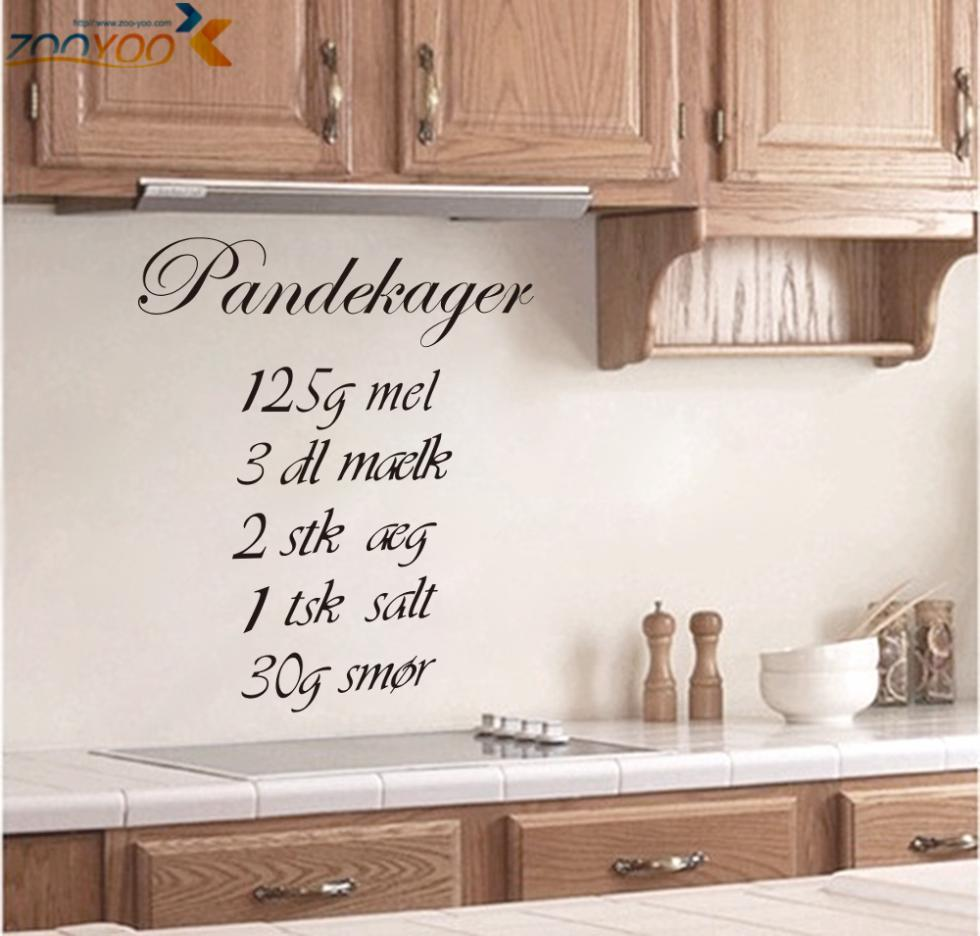 Pandekager Quotes Wall Stickers Home Decorations Zooyoo8289 Diy Removable  Vinly Cooking Wall Decals Kitchen Room Wall Decal Stickers On The Wall  Stickers On ...
