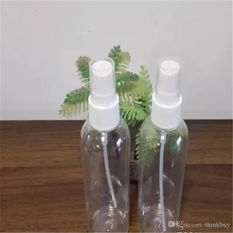 Alta qualidade 100 ml Frasco de Spray De Plástico Garrafa Recarregáveis Perfume Garrafa PET com Spray de Bomba shippig Livre a187-a190