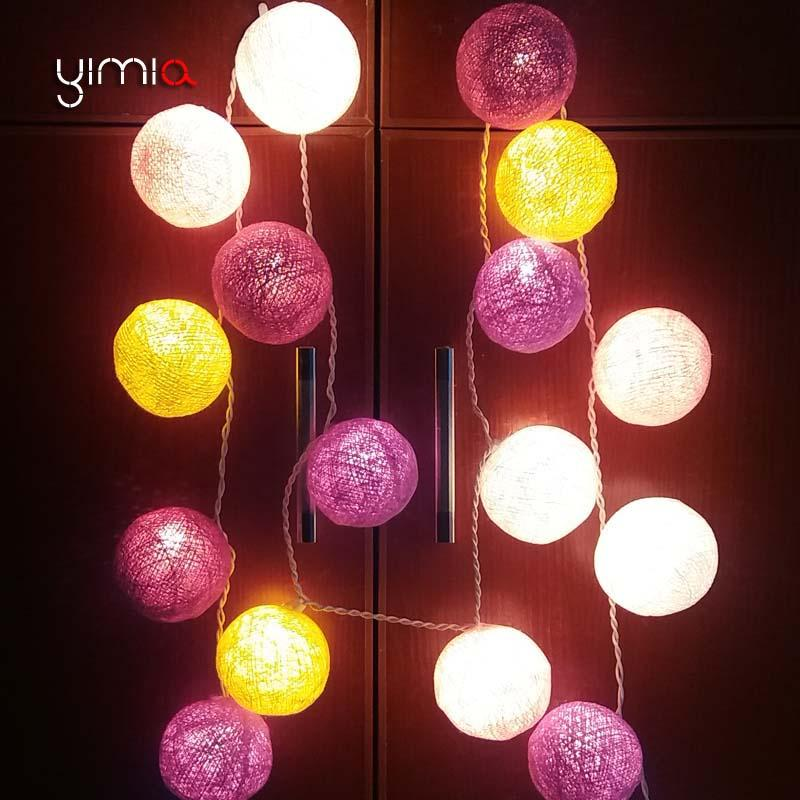 Wholesale Yimia Cotton Balls Lights Led Christmas Outdoor Lighting Strings Battery Operated Led Garland Lights Holiday Fairy Lights Chain Globe Lights ... & Wholesale Yimia Cotton Balls Lights Led Christmas Outdoor Lighting ...